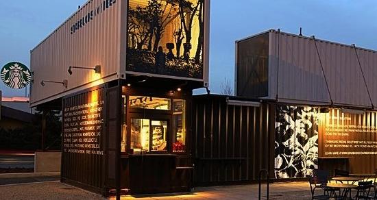 台灣首見貨櫃屋星巴克 環保訴求外觀吸睛