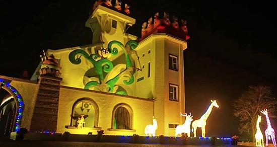 長頸鹿花燈吸睛必拍 城堡地標打卡新亮點