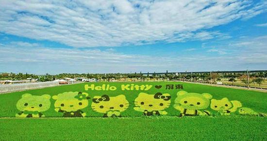 Hello Kitty彩繪稻田全球唯一 熱博會再推大遊行